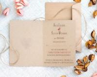 wnętrze ekologicznego zaproszenia na ślub